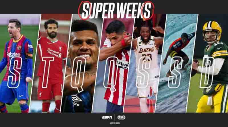 """Com Fox Sports, ESPN retoma """"Super Weeks"""" no final do ano"""