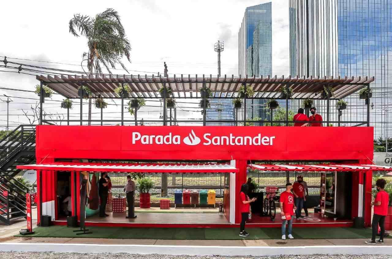 Posto do Santander instalado em São Paulo (Foto: Divulgação)