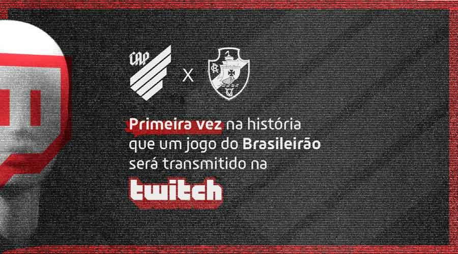 Athletico transmitiu pela primeira vez uma partida do Brasileirão no Twitch, plataforma da Amazon