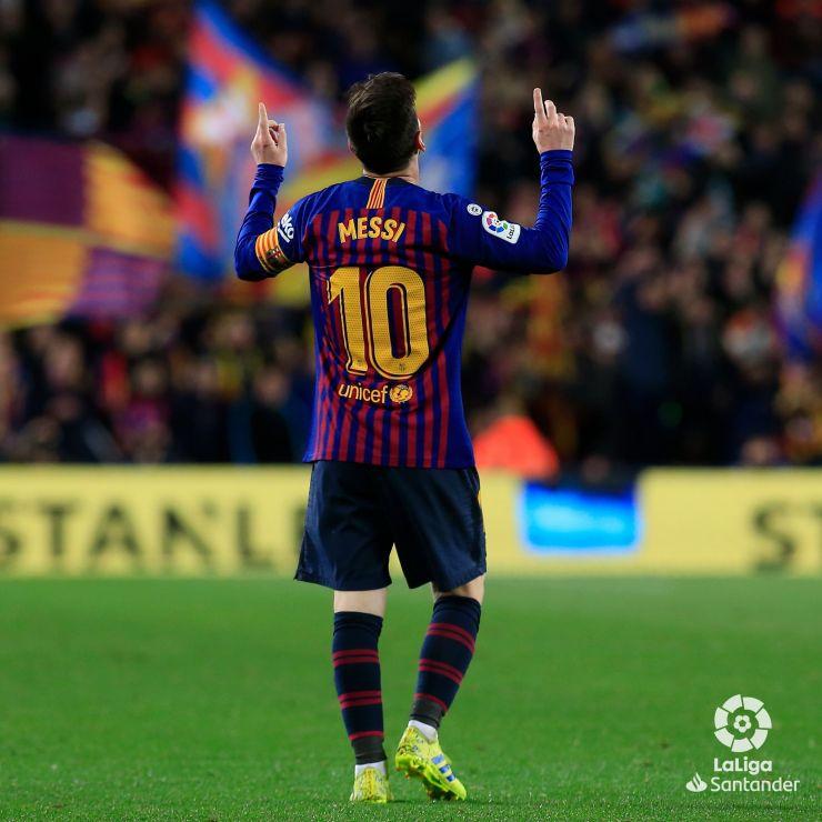 Messi, o grande astro dos gramados da Espanha (Foto: laliga.com)
