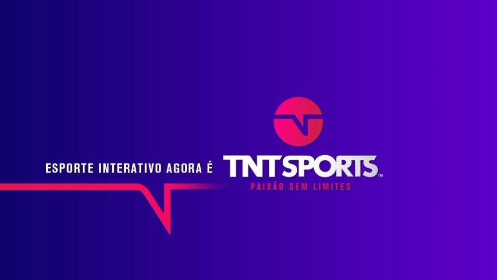 Imagem com a alteração da nomenclatura do Esporte Interativo para TNT Sports