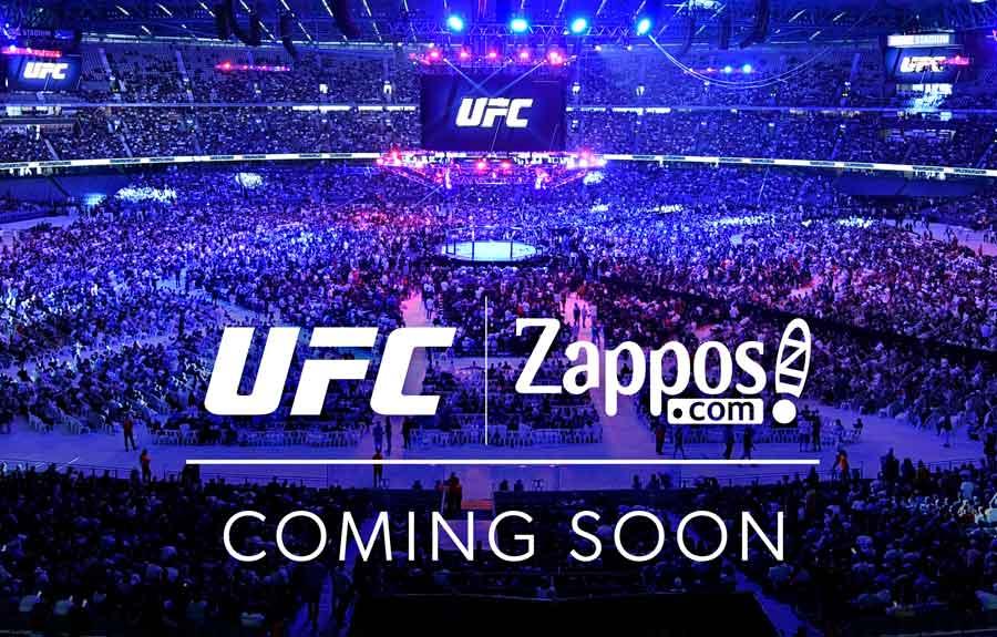 Parceria entre UFC e Zappos deve ter início até o final do mês de janeiro com lançamento de produtos na varejista on-line
