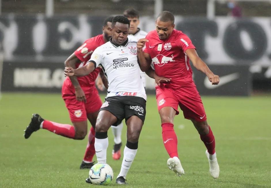 Corinthians estreou o patrocínio da Neo Química em duelo contra o Red Bull Bragantino