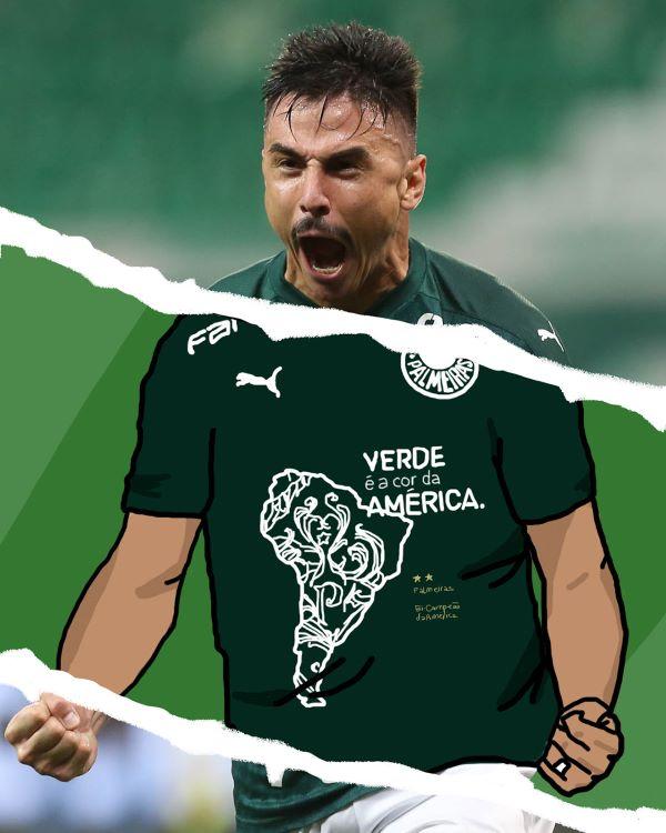 Nova camisa lançada pela Puma para homenagear título do Palmeiras  (Foto: Divulgação)