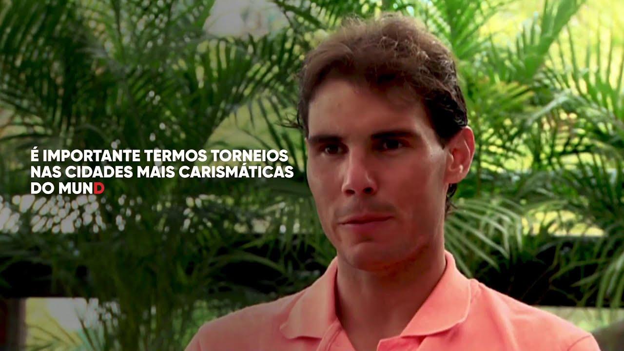 A trajetória de Rafael Nadal no Rio Open está retratada dentro do documentário que será veiculado no Now e no Sportv