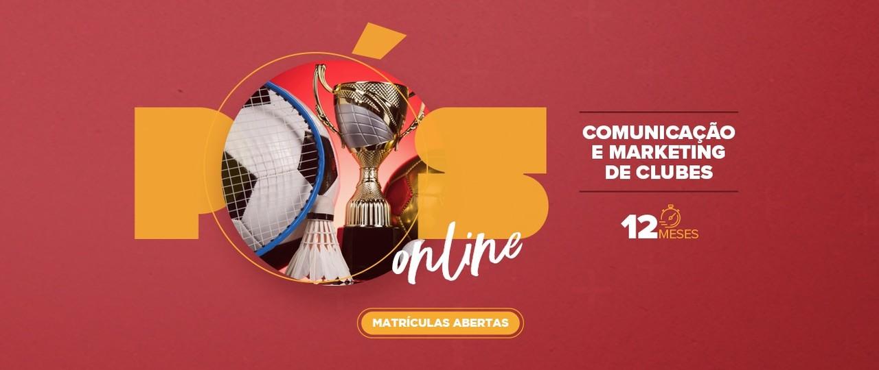 Curso de Comunicação e Marketing no futebol será on-line e começa em abril