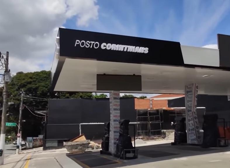 Local já tem o nome instalado: Posto Corinthians (Foto: Reprodução/Meu Timão)