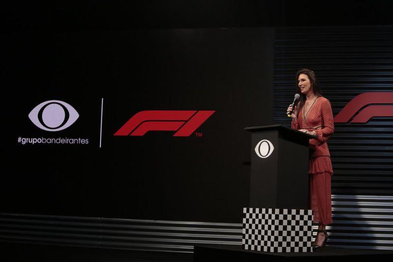 Band apresentou detalhes da transmissão da Fórmula 1 (Foto: Rafael Cusato/Band)