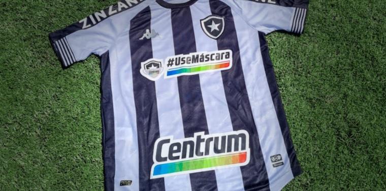 Frase ficará no espaço máster da camisa do Botafogo (Foto: Divulgação)