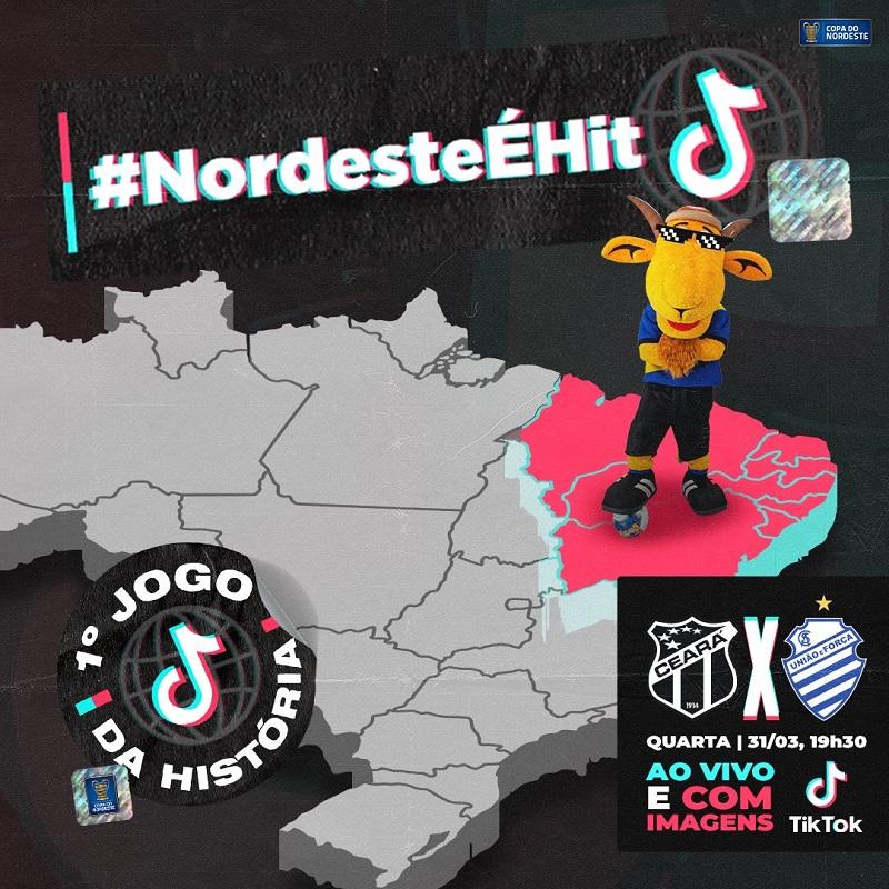 Com Copa do Nordeste, Tiktok terá primeira transmissão de futebol