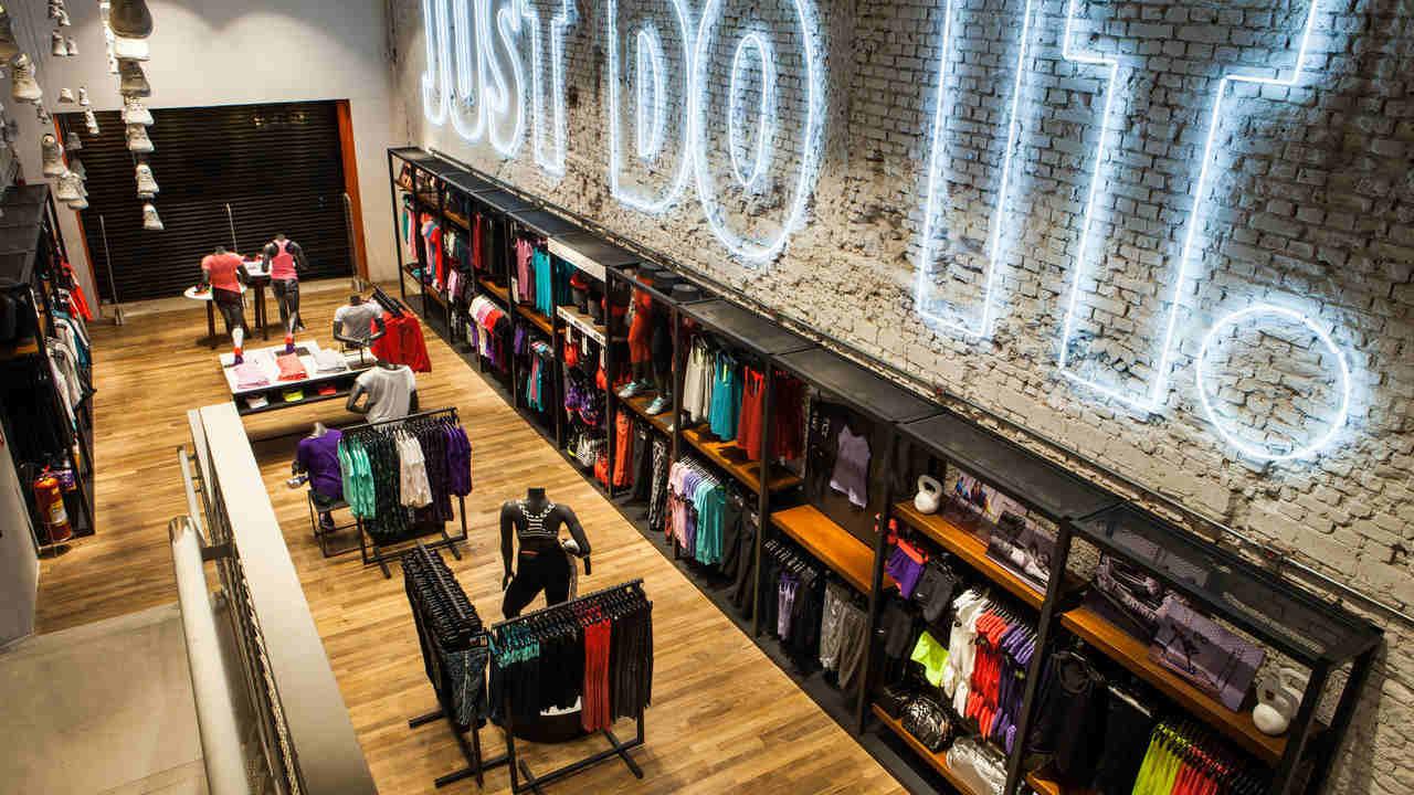 Loja da Nike na rua Oscar Freire, em São Paulo; lojas próprias são uma das apostas do Grupo SBF para crescer o negócio da marca no país
