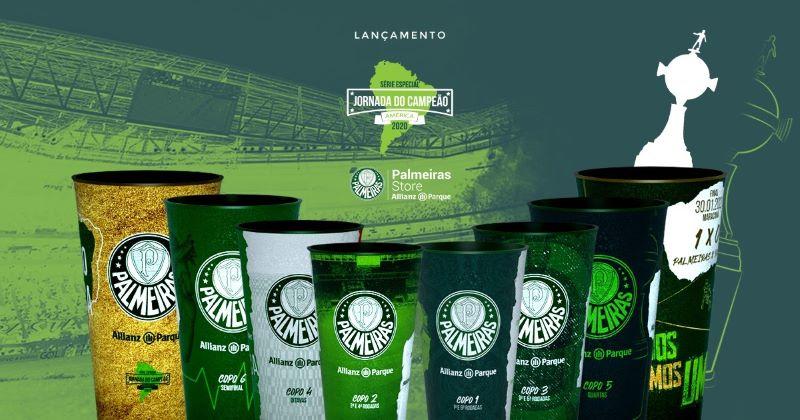 Allianz Parque lança copo com título da Libertadores do Palmeiras