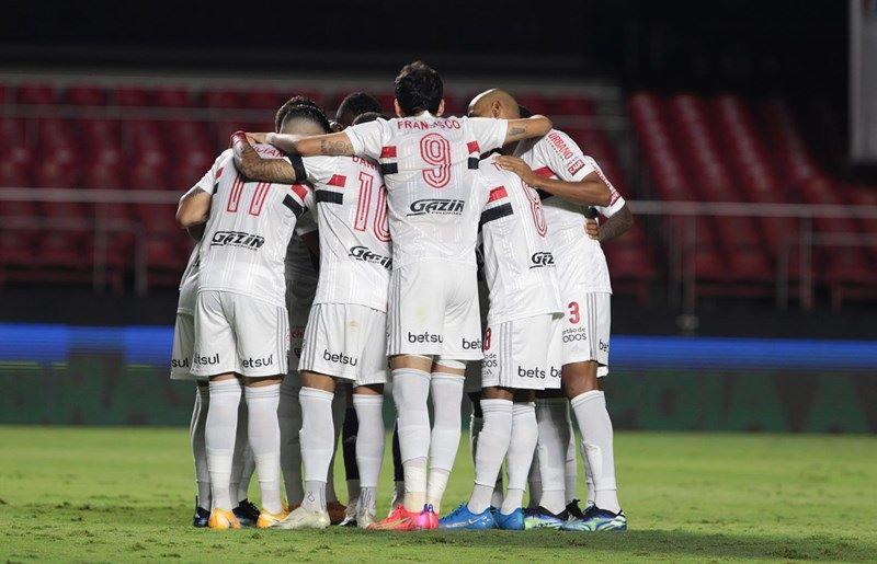 Marca da Betsul ficará no calção do uniforme do São Paulo (Foto: Rubens Chiri / saopaulofc.net)