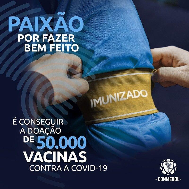 Conmebol recebe doação para vacinar jogadores