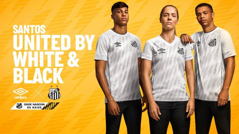 Umbro homenageia 'meninos da Vila' com camisa do Santos