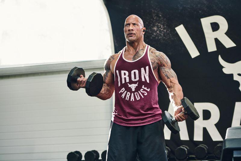 Embaixador da Under Armour, The Rock terá linha de produtos e treinos no Brasil (Foto: Divulgação)
