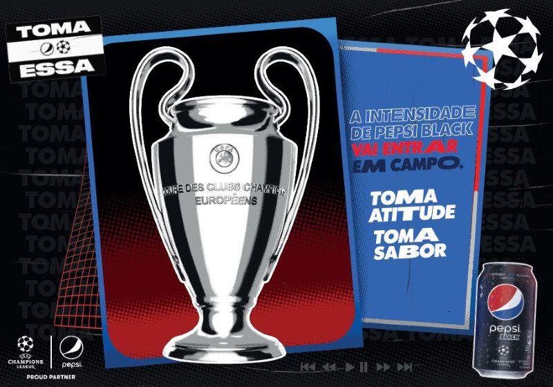 Pepsi Black receberá embalagem da a taça da Liga dos Campeões (Foto: Divulgação)