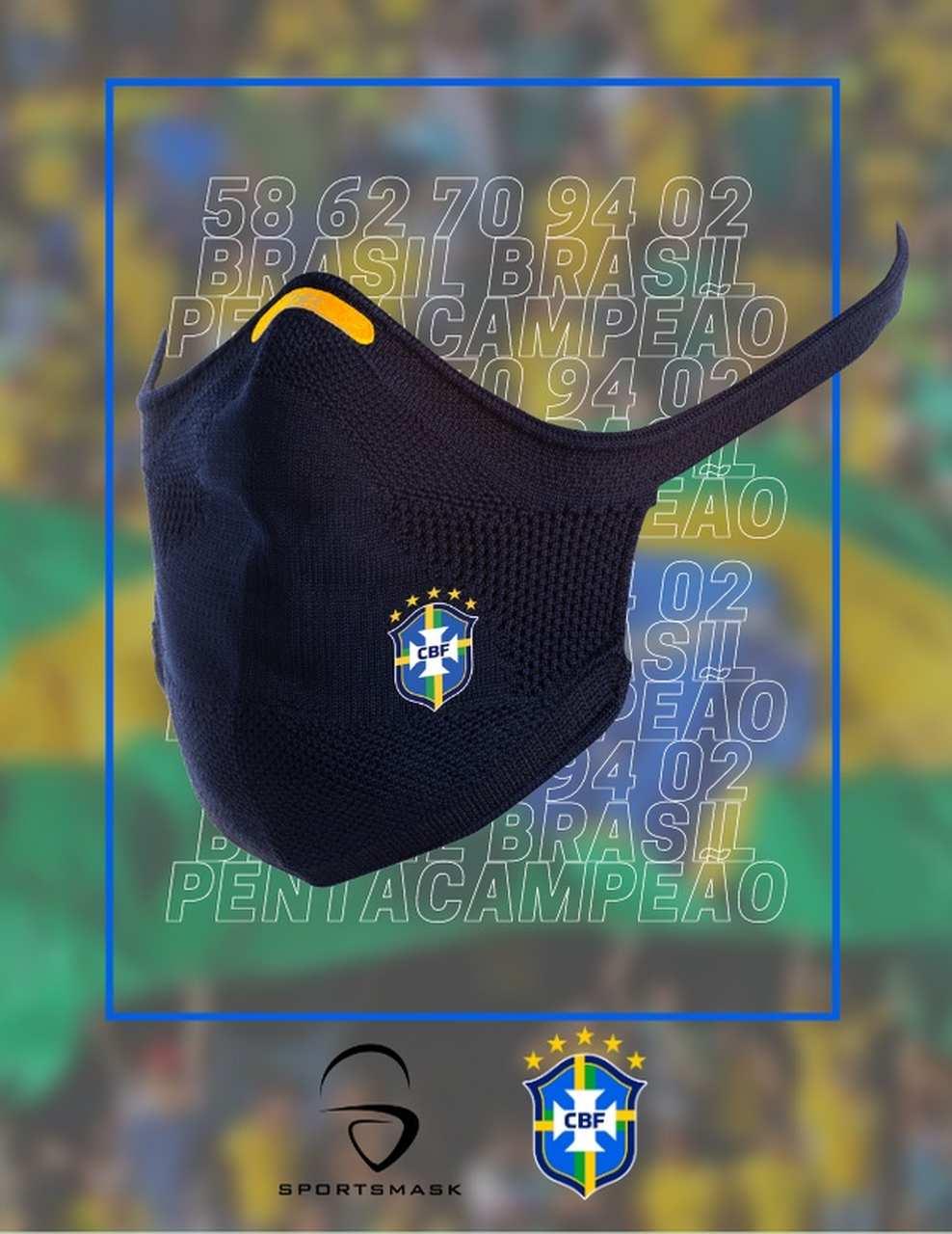 CBF e SportsMask se unem por máscara oficial da seleção brasileira