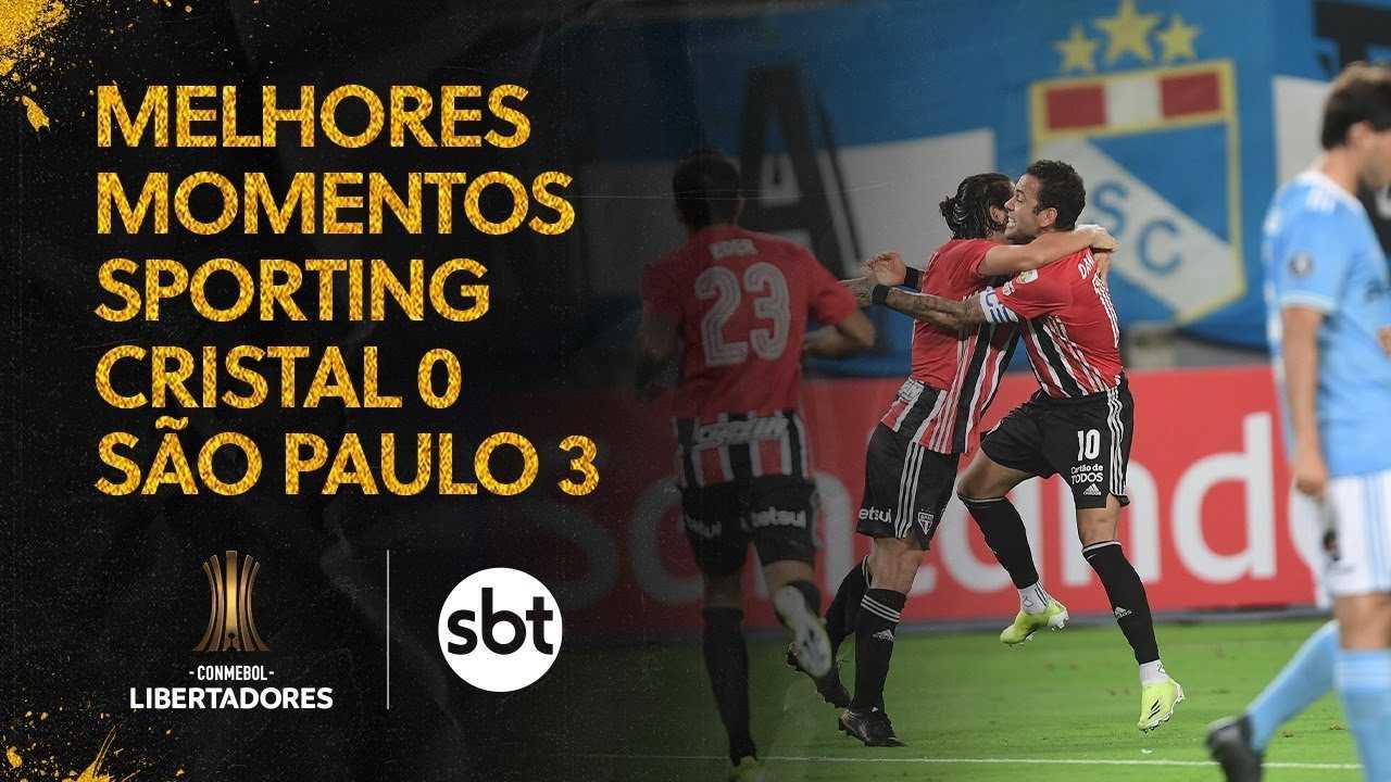 Estreia do São Paulo na fase de grupos da Libertadores foi transmitida pelo SBT para a capital paulista