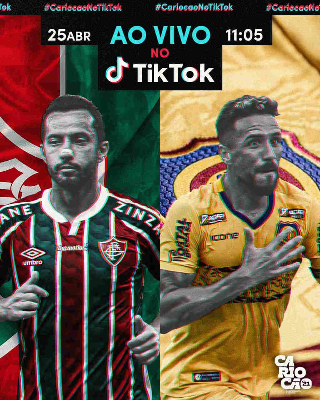 Fluminense e Madureira foi o primeiro jogo do Carioca transmitido no TikTok