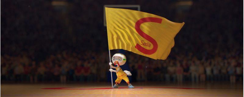 Mascote da Sadia será protagonista da nova campanha com a NBA (Foto: Divulgação)
