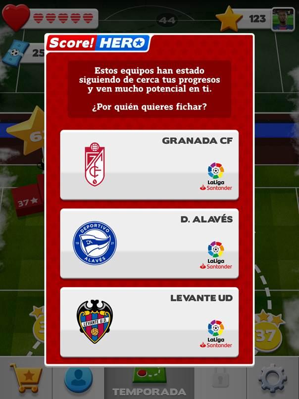"""LaLiga lança jogo para celular """"Score! Hero 2"""""""