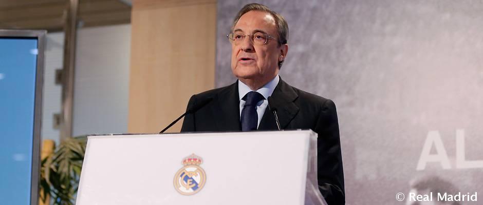 Apelo aos mais jovens foi a principal justificativa do presidente do Real Madrid Florentino Perez (Foto: realmadrid.com)