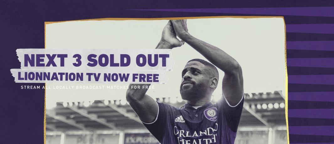 Com ingressos esgotados, Orlando City abre jogo no streaming