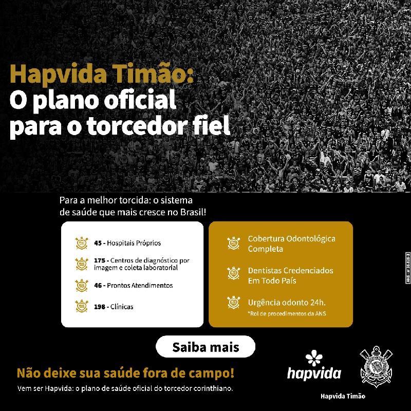 Hapvida lança plano de saúde do Corinthians