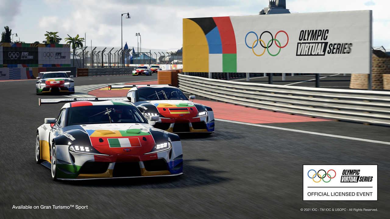 Imagem da Olympic Virtual Series do Gran Turismo