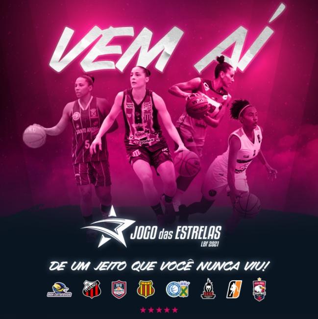 Em 2021, disputa do Jogo das Estrelas da Liga de Basquete Feminino será entre as oito equipes fora de quadra