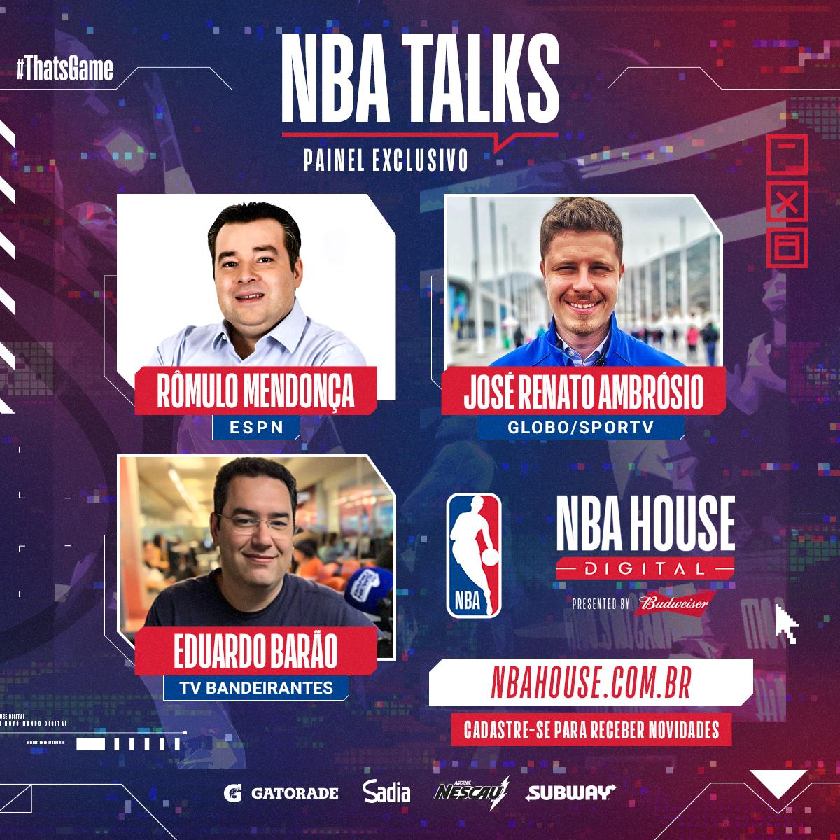 NBA Digital House terá painel com jornalistas esportivos