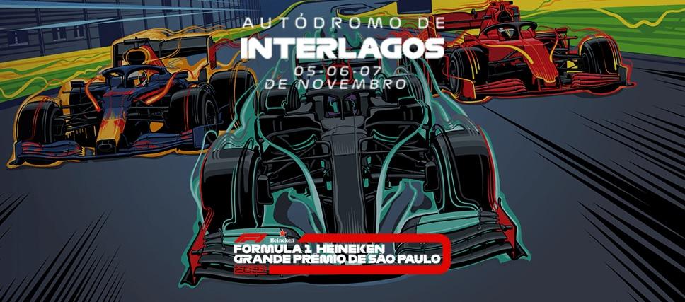 Fórmula 1 Heineken Grande Prêmio de São Paulo está marcado para o fim de semana de 5, 6 e 7 de novembro
