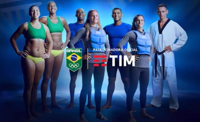 Patrocinadora do COB, Tim lança campanha de apoio ao Time Brasil