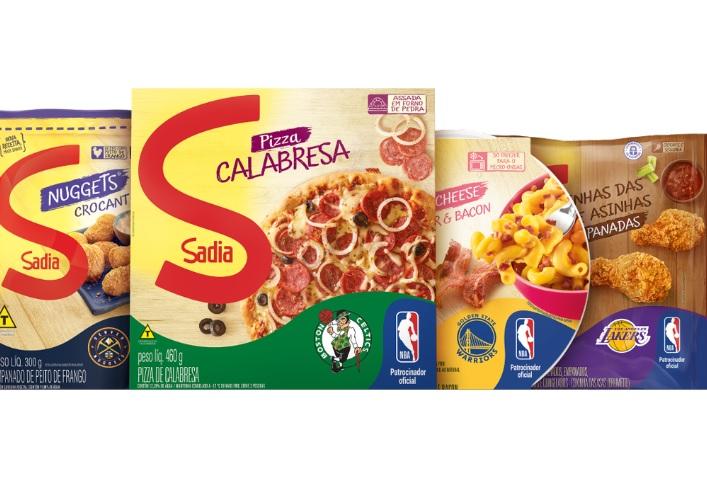 Franquias da NBA passarão a estampar as embalagens de diversos produtos da Sadia