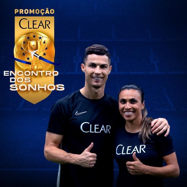 Em ação com Desimpedidos, Clear promoverá encontro de fãs com Marta e CR7