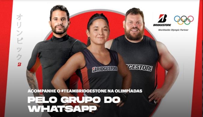 """Por """"clima olímpico"""", Bridgestone promove ação com atletas no WhatsApp"""