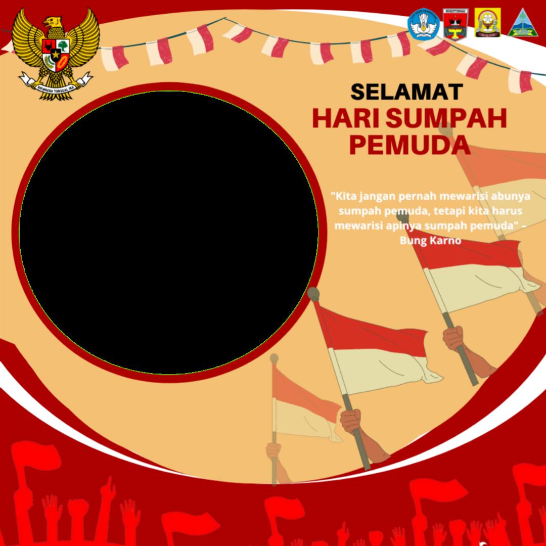 Free Download Twibbon SELAMAT HARI SUMPAH PEMUDA Terbaru buatan Daffa Nurdiansyah