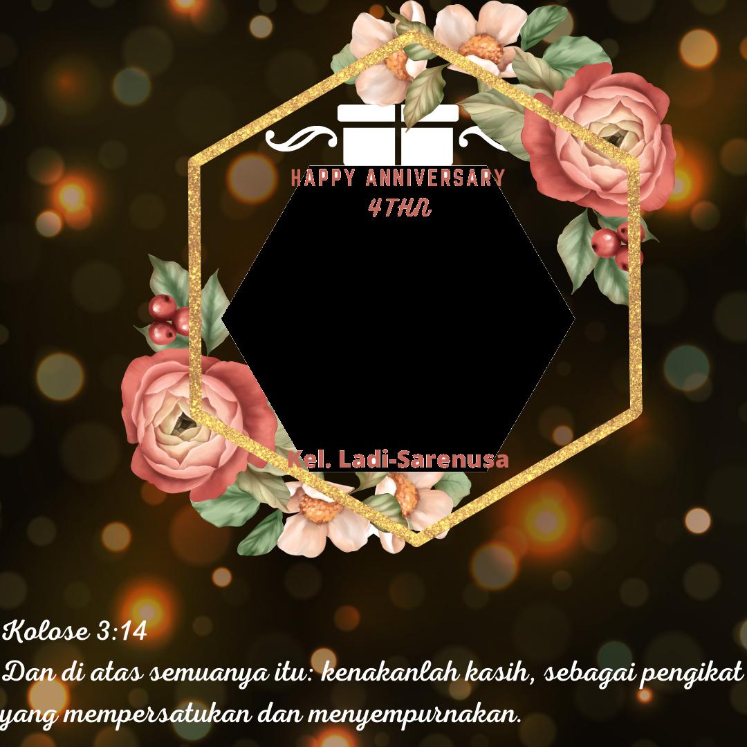 Download Twibbon Anniversary Keren buatan JENI SARENUSA