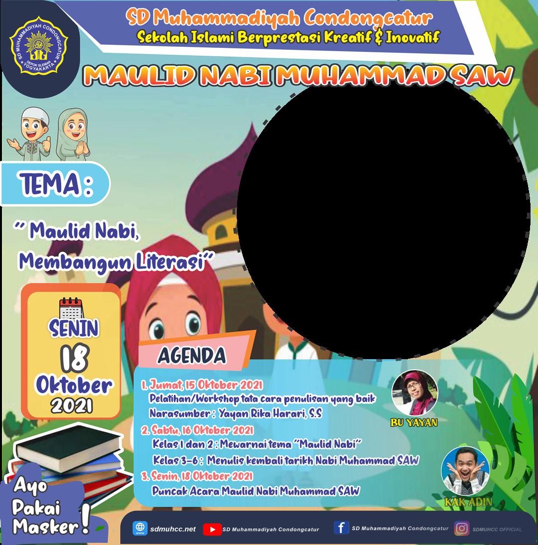 Twibbon Maulid Nabi Muhammad SAW Background PNG buatan Sdmuhcc Net