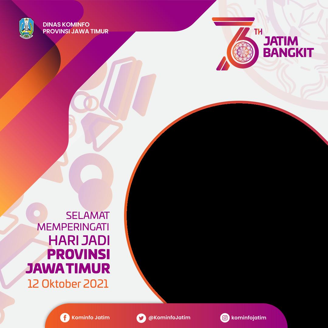Download Twibbon HUT Ke76 Provinsi Jawa Timur Terbaru buatan jnr redaksi