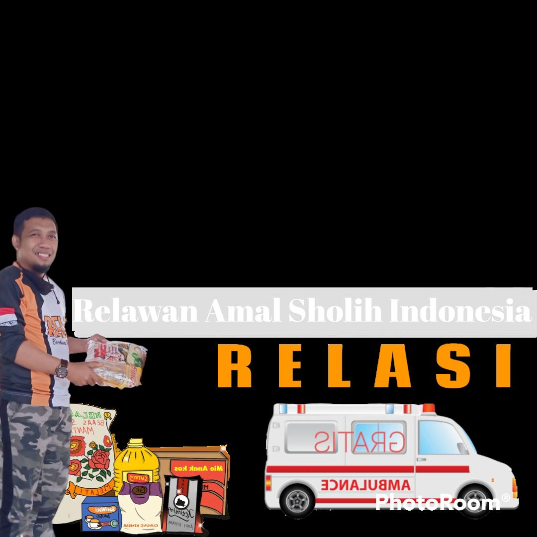 Download Twibbon Relasi Keren buatan Toko Militer