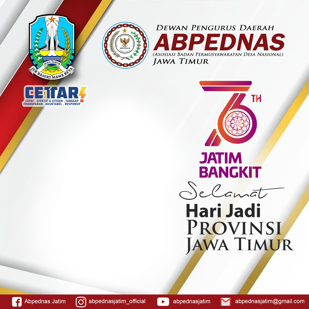 Download Twibbon HARI JADI JATIM ABPEDNAS Terbaru buatan Atharizz Aziz