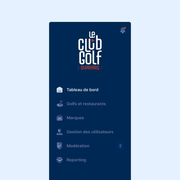 Le Club Golf Suppliers - Interface