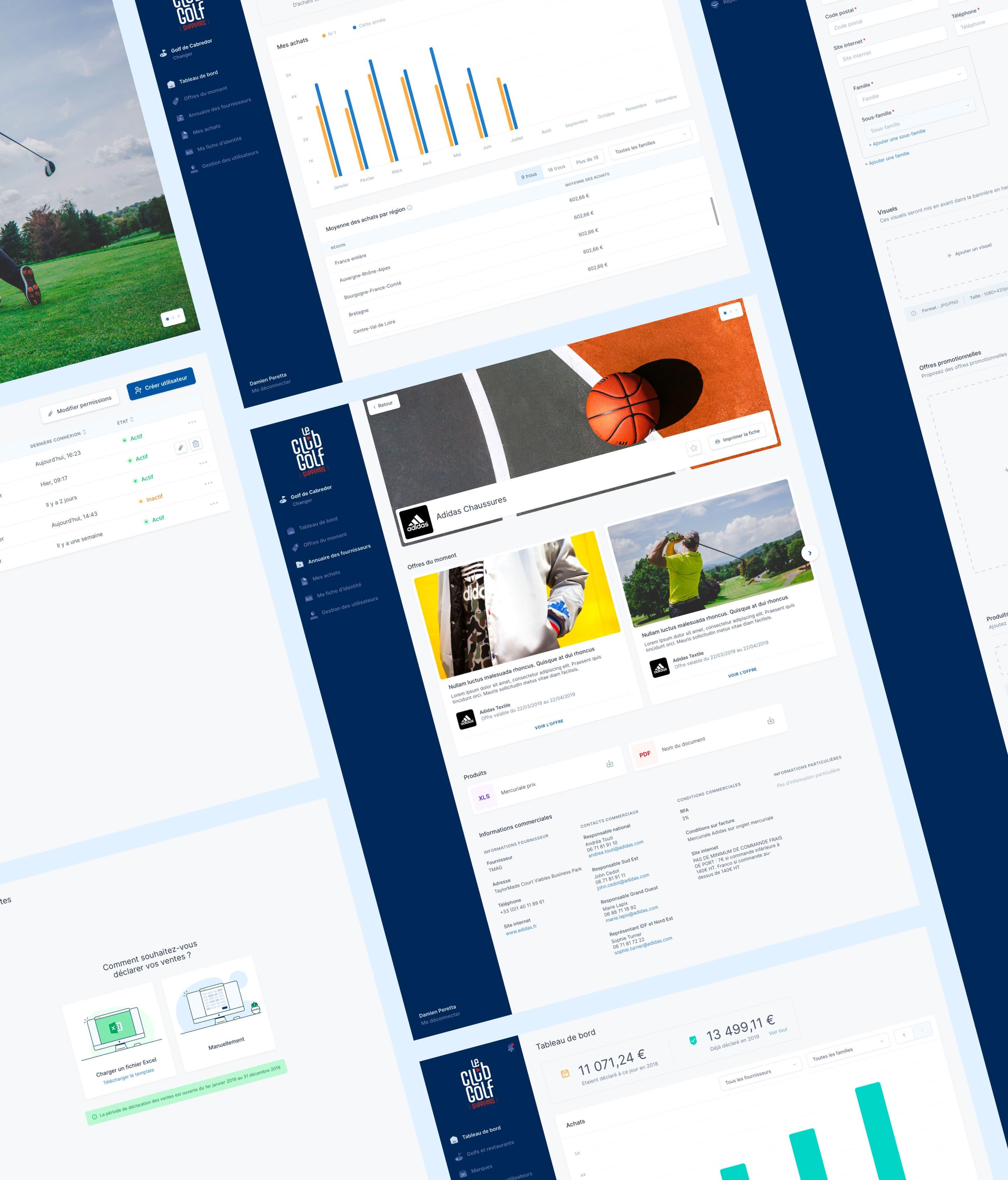 Le Club Golf Suppliers - Screenshots interface