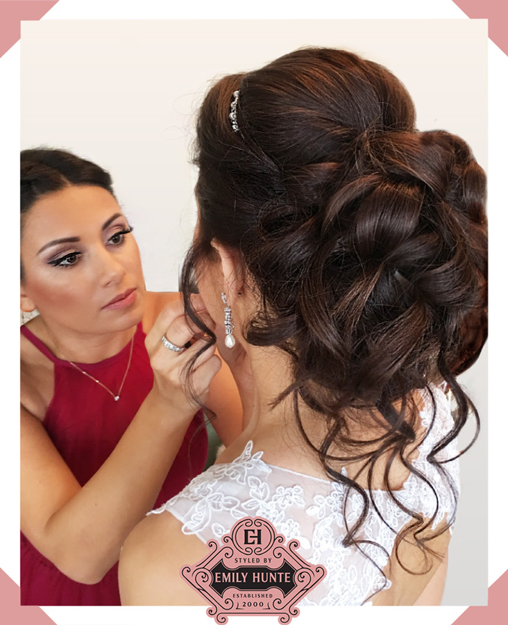Stunning Bridal Hair Styling Client - Styled By Emily Hunte - Mobile Bridal Hair Stylist London
