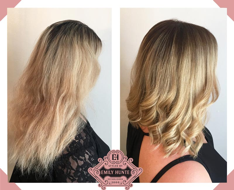 Styled By Emily Hunte, Mobile Hairdresser London, Stunning colour change and blow dry client image