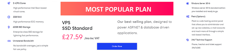 Most popular VPS plan