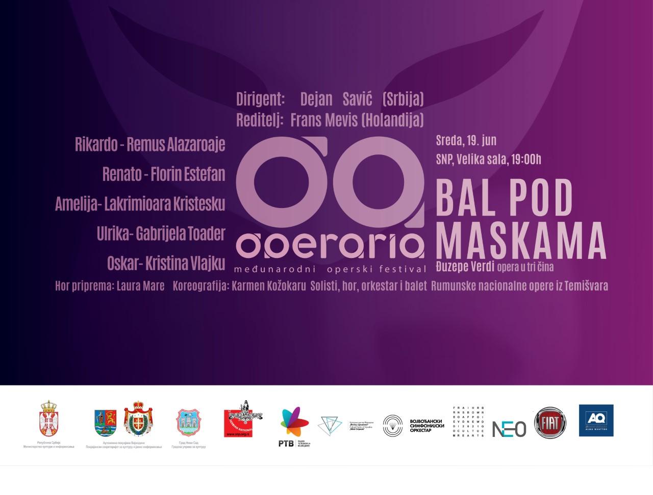 Festival Operaria - Bal pod maskama