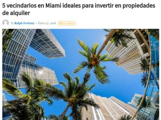 Los alquileres en las principales ciudades de Estados Unidos vecindarios en Miami